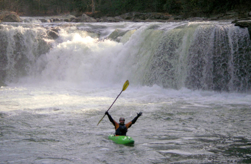 mand kyaking on cheat river and big sandy creek in albright