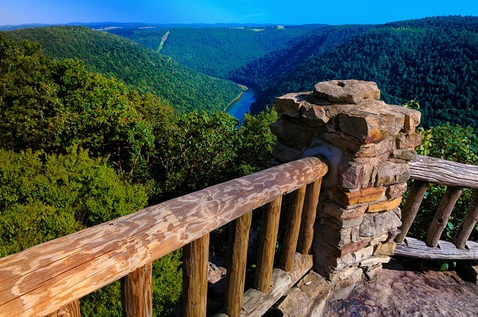 coopers rock overlook in cheat lake