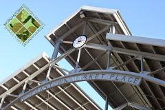 morgantown farmers market logo over spruce street location