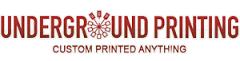underground printing custom printed anything logo