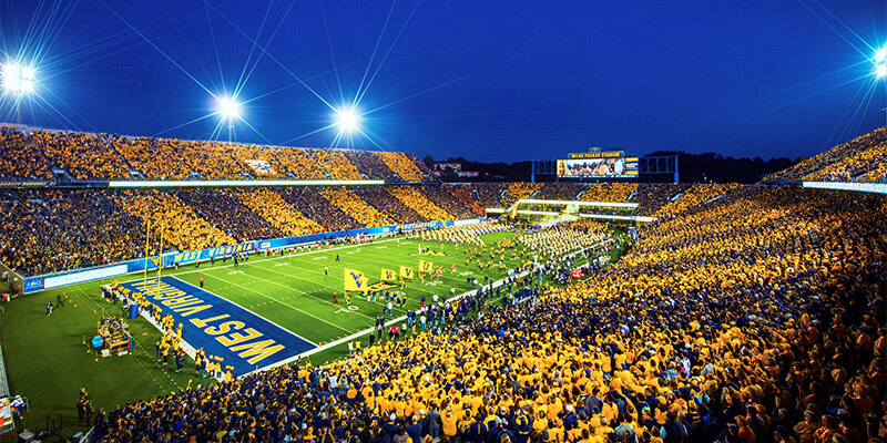 Image result for west virginia stadium