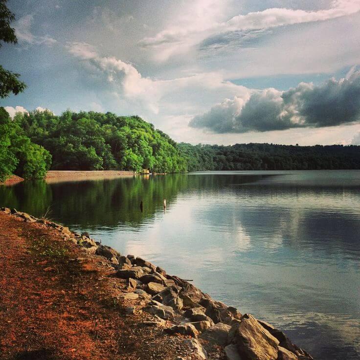 Cheat Lake Park and Trail beach