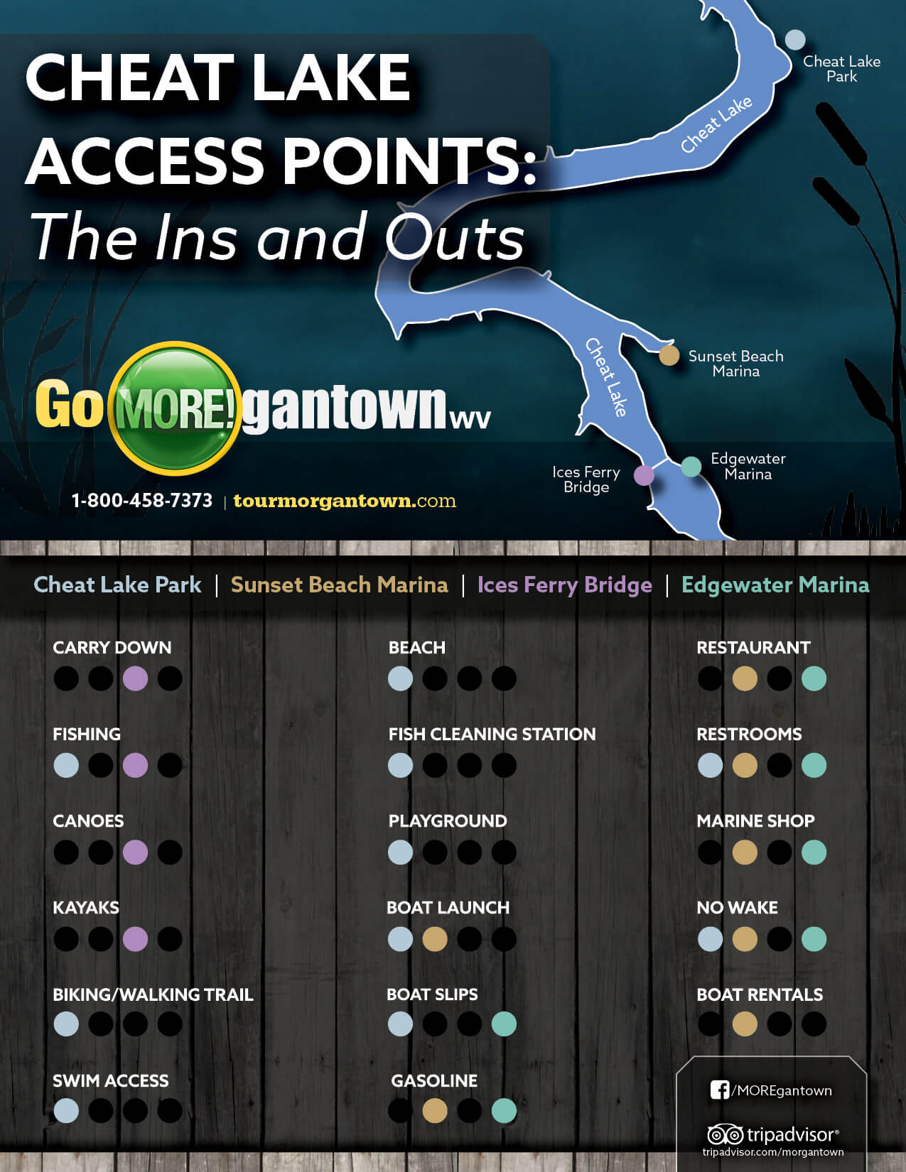 Cheat Lake access points