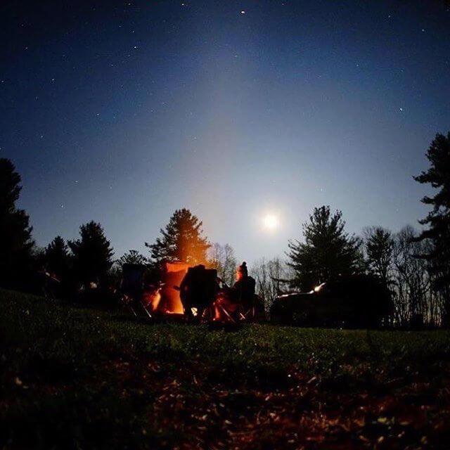 camping stargazing morgantown