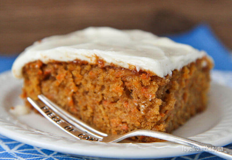 Oven Baked Carrot Pudding Cake