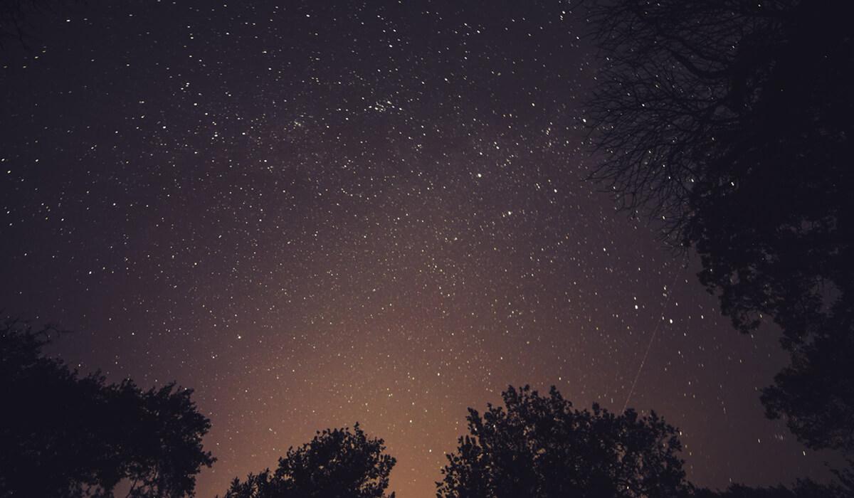A starry, night sky