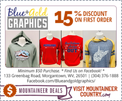 Blue and Gold Graphics