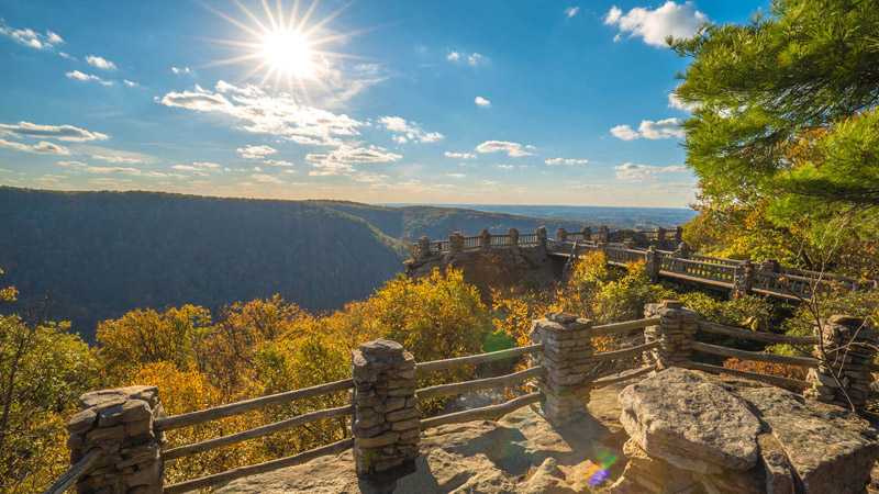 f48bd3e2fb Wanting to catch a breath of fresh air during the weekend? Head to the  Coopers Rock Overlook for a beautiful sunset view of Coopers Rock State  Forest.
