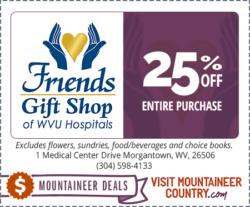 WVU Hospitals – Friends Gift Shop