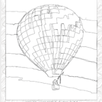 Coloring Page, Balloons Over Morgantown
