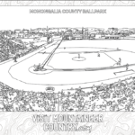 Coloring Page, Monongalia County Ballpark