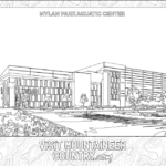 Coloring Page, Mylan Park Aquatic Center